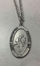 St. Christopher Girls Field Hockey Medal Necklace with a Free Prayer Card.