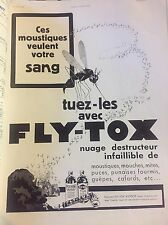 Vintage Advertising Fly-Tox French 1930s Original Print Ad