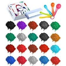 Bath Bomb Soap Making Supplies - 24 Pack Mica Pigment Powder Dye, 100 Shrink Wra