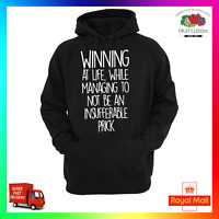 Winning At Life Insufferable Prick Hoodie Hoody Funny Rude Offensive Obscene
