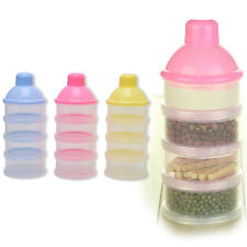 Portable Baby Feeding Milk Powder Food Box Storage Bottle Container 4 Layers