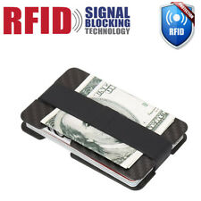 Mens RFID Blocking Carbon Fiber Credit Card Holder Money Clip Wallet Chic Slim
