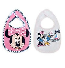 Disney Store Authentic Minnie Mouse & Daisy Duck 2pc Bib Set for Baby Girls NEW