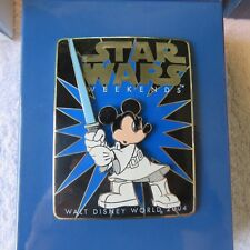 2004 WALT DISNEY WORLD STAR WARS WEEKENDS JUMBO JEDI MICKEY PIN,LIMITED EDITION,