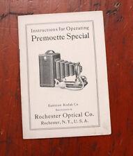 KODAK PREMOETTE SPECIAL INSTRUCTION BOOK/cks/202091