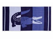 "LACOSTE CROCODILE BEACH TOWEL 36"" x 72""  BLUE NWT"