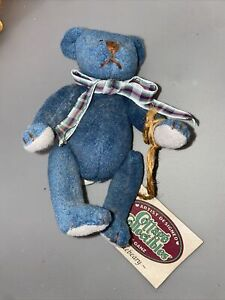 """GANZ Cottage Collectibles 5"""" Bluebeary Jointed Teddy Bear Vintage 1995 w Tags"""