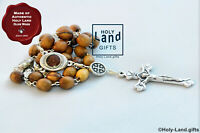ANGLICAN rosary prayer OLIVE WOOD christian BETHLEHEM SOIL wooden HOLY LAND