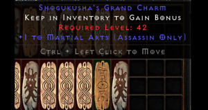 Diablo 2 Resurrected (D2R) Battle.net (PC) Martial Arts Skill Charm / Skiller