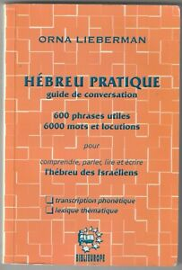 Hébreu pratique Guide de conversation Orna Lieberman