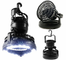 Tent Fan Light LED Camping Hiking Outdoor Gear Equipment Portable Ceiling Lamp