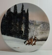 """""""Wolf Ridge"""" By Julie Cole Touching Spirit Bradex Plate #11061E Faces of Nature"""