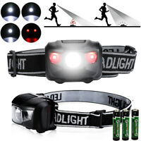 Head Lamp Waterproof White Led Red Flashlight Headlight Torch Light - 4 Modes