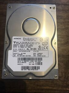 "Hitachi Deskstar 40GB 7200 RPM 3.5"" IDE Hard Drive."