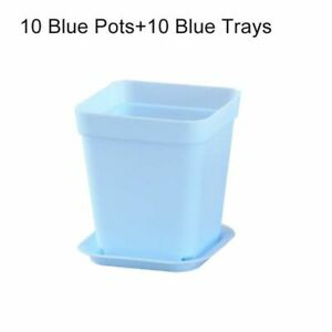 10pcs 7Colors Avilable Thicken Flower Pot Planters Plastic Creative Small Square
