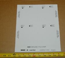 Rowe AMI CD-100 jukebox full sheets of blank title strip cards, 25 x 4 = 100