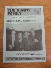 Sep-1994 Wycombe Wanderers: FANZINE-LA FAMIGLIA ADAMS EDIZIONE 15. grazie per la vista