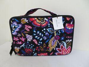 Vera Bradley FOXWOOD Signature Large Blush & Brush Cosmetic Case NEW