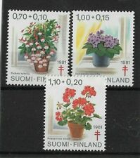 Finland  Sale 1981 TB Relief Fund Potted Plants MNH Set