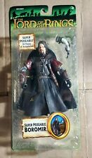 Lord Of The Rings SUPER POSEABLE BOROMIR Fellowship Trilogy LOTR Toy Biz Green