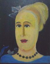 "Original Oil on cadboard Ukreinian artist paintings ""Lady""1990 signed 42.5x34"