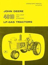 John Deere 4010 Lp-Gas Row Crop Standard Tractor Operators Manual