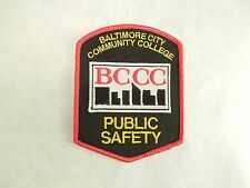 Baltimore City Community College BCCC Public Safety Logo Iron On Patch