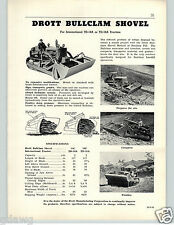 1956 PAPER AD International Harvester IH Drott Clamshell Bucket Bulldozer Shovel