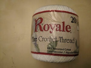 lot of three Royale Fine Crochet thread 20 white (1) and 3 bridal white (2)