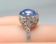 Antique Art Deco Vintage Sapphire Engagement Ring Platinum Ring Size 5.5 UK-K1/2