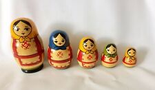 Authentic Vintage Set of 5 Russian Dolls