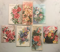 Vintage New unsigned Greeting Card, Congratulations &  Get Well ROSES FLOWERS