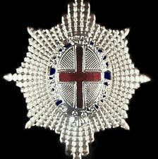 COLDSTREAM GUARDS BRITISH ARMY OFFICER  ENAMELED CAP HAT BADGE               -01