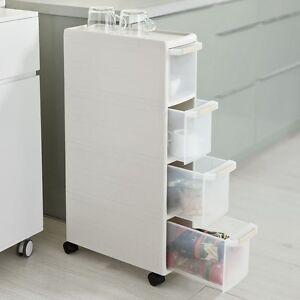 SoBuy® Rollwagen, Nischenwagen, Schubladencontainer, Küchenregal, FRG41-HG