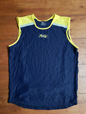 Zoot Mens Tri Tank Top M Blue Yellow Reflective Triathlon Sleeveless Shirt