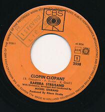"BARBRA STREISAND 45 TOURS 7"" HOLLANDE CLOPIN CLOPANT (JACQUES PREVERT)"