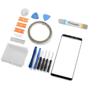 For Samsung Galaxy Note 8 Outer Front Glass Screen Replacement Repair Kit Black