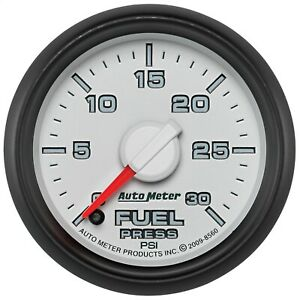 AutoMeter 8560 Fuel Pressure Gauge with White Dial Face Fits Dodge Gen 3