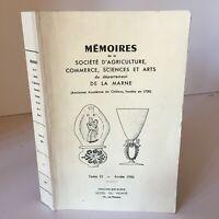Mémoires de La Société Agricultura Commerce Ciencias Y Art La Marga 1986