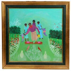 """Ceremonie Sacrifice Voodo"" by Haitian artist LaFortune Felix from 1985"