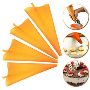 Reusable Icing Piping Cream Tips Pastry Bag Silicone DIY Cake Decorating Tools