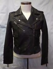 Members Only Men's Distressed Brown Leather Moto Biker Jacket $498 Size S NEW