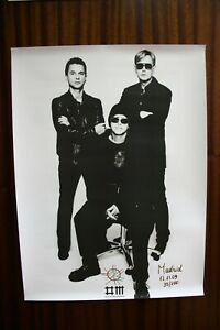 DEPECHE MODE TOUR OF UNIVERSE NOVEMBER 17 2009 MADRID LIMITED EDITION POSTER