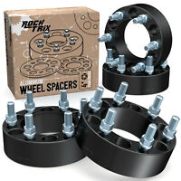 "4pc 2"" 6x5.5 Black Wheel Spacers Adapters 6 Lug 14x1.5 Stud for Chevy GMC Trucks"