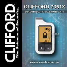 Clifford 7351X 2-Way LCD Replacement Remote Control Transmitter By Viper 7351V