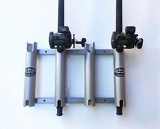 Aluminum Rod Storage Holder 4 with Cutouts. Rod Holders. Racks. High Seas Gear