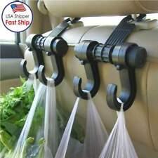 2x Multi-functional Car Seat Hook Metal Headrest Hanger Bag Hook Holder for Bag