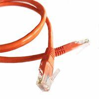 20M (65.6ft) Orange Ethernet Cable Cat5e RJ45 Network Lan Patch Lead 100% Copper