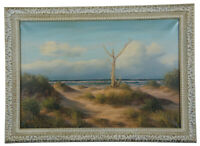 M. Charles Donald Leary Beach Dunes Ocean Landscape Oil Painting on Canvas 32""