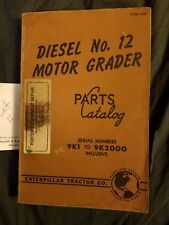 Caterpillar Cat 12 Motor Grader Parts Catalog Manual 9K1- 9K2000